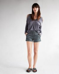 Express - Mid Rise Relaxed Trouser Pocket Shorts - Lyst