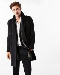 Express | Wool Blend Double Breasted Topcoat | Lyst
