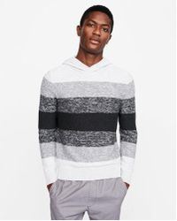 Express - Ombre Hooded Cotton Sweater - Lyst