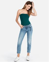 Express - One Eleven Tube Thong Bodysuit - Lyst