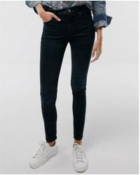 Express - High Waisted Denim Perfect Stretch+ Performance Leggings - Lyst
