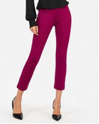 Express - High Waisted Ponte Knit Cropped Skinny Pant - Lyst