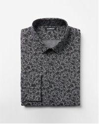Express - Extra Slim Floral Cotton Dress Shirt - Lyst