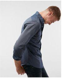 Express - Soft Wash Pinstripe Button Collar Cotton Shirt - Lyst