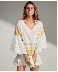 Express - Pom Hem Embroidered Cover-up - Lyst