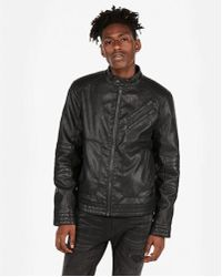Express - Faux Leather System Moto Jacket - Lyst