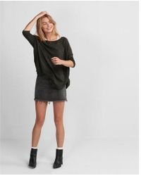 Express - Marled Extreme Circle Hem Tunic Sweater - Lyst