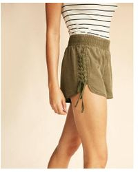 Express | Braided Lace-up Shorts | Lyst