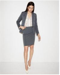 Express - High Waisted Herringbone Clean Pencil Skirt - Lyst