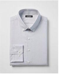 Express - Classic Striped Button-collar Dress Shirt - Lyst
