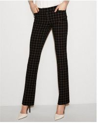 Express - Low Rise Plaid Barely Boot Columnist Pant - Lyst
