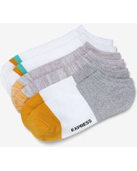 Express - Three Pack Striped Ankle Socks - Lyst