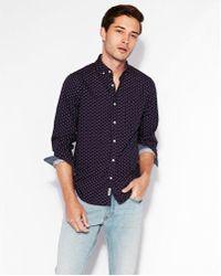 Express - Slim Soft Wash Geometric Print Shirt - Lyst