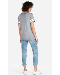 Express - Sundays Are For Football Cut-out Choker Tee Gray - Lyst