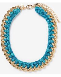 Express - Yarn Wrapped Chain Necklace - Lyst