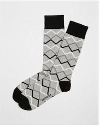 Express - Geometric Pattern Dress Socks - Lyst