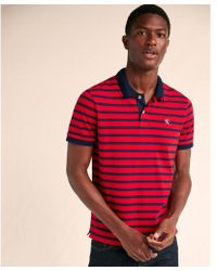 Express - Big & Tall Striped Space Dye Stretch Pique Polo - Lyst