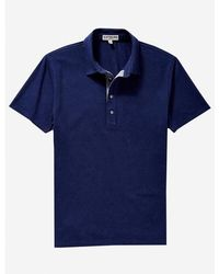 Express - Chambray Placket Moisture-wicking Polo - Lyst