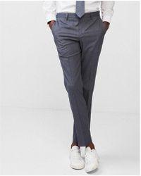 Express - Slim Striped Stretch Cotton Dress Pants - Lyst