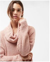 Express - Cozy Chenille Cowl Neck Sweater - Lyst
