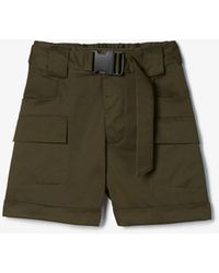 Express Olivia Culpo High Waisted Cargo Shorts Green