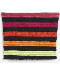 Express - Love Unites Pride Rainbow Striped Smocked Crop Top Multi Unisex Xxs - Lyst