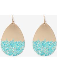 Express - Painted Metal Teardrop Earrings - Lyst