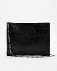 Express - Flat Crocodile Pattern Shoulder Bag - Lyst