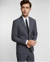 Express - Extra Slim Navy Plaid Wool Suit Jacket - Lyst