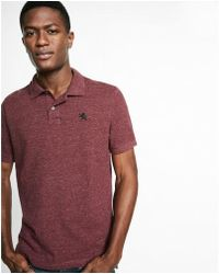Express - Textured Nep Small Lion Polo - Lyst