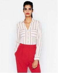 Express - Etite Original Fit Striped Portofino Shirt - Lyst
