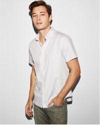 Express - Slim Short Sleeve 1mx Shirt - Lyst