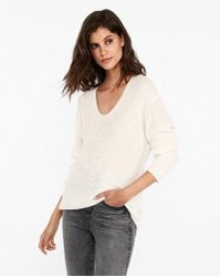 Express - Slouchy Tunic Sweater - Lyst