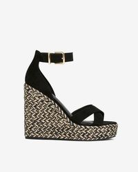 Express - Ankle Strap Wedge Sandals - Lyst