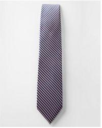Express - Striped Narrow Silk Tie - Lyst