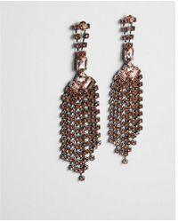 Express - Rhinestone Fringe Drop Earrings - Lyst
