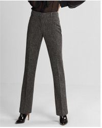 Express - Mid Rise Speckled Tweed Barely Boot Columnist Pant - Lyst