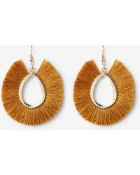 Express - Fringe Teardrop Earrings - Lyst