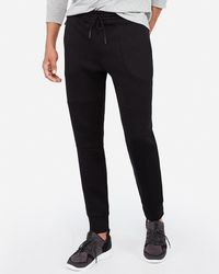 Express - Double Knit Joggers Black - Lyst