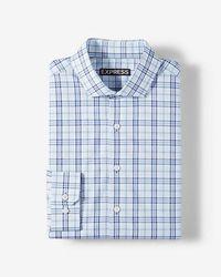 Express - Modern Fit Plaid Cotton Dress Shirt - Lyst