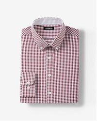 Express - Slim Fit Plaid Performance Shirt - Lyst