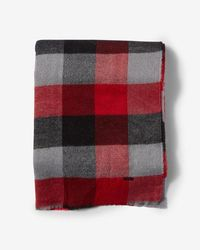 Express - Fringe-trim Large Plaid Scarf - Lyst