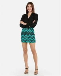 4c213ae9ac Lyst - Express Ruched Mini Skirt - Blue in Blue