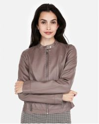Express - Faux Leather Moto Jacket - Lyst