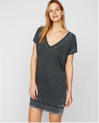 Express - Petite Strappy Back London Shirt Dress - Lyst