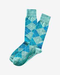 Express - Heathered Argyle Dress Socks - Lyst