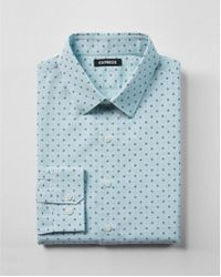 Express - Slim Floral Print Cotton Dress Shirt - Lyst