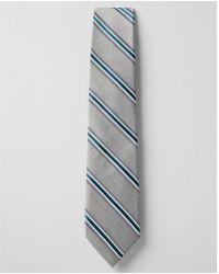 Express - Multi Stripe Narrow Silk Blend Tie - Lyst