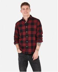 Express - Classic Check Button-down Shirt - Lyst