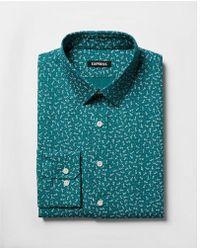 Express - Extra Slim Floral Print Dress Shirt - Lyst